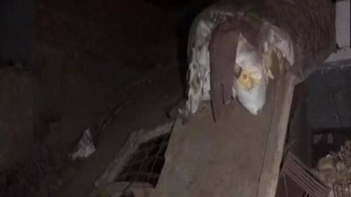 A building collapsed following a cylinder blast in Falawada area of the district.