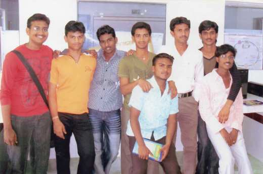 Rohith Vemula (in blue a shirt) with his friends, including Sheikh Riyaz during their BSC days in Guntur. Riyaz says Rohith, his siblings and his mother were treated no better than servants at his adoptive grandmother's house. (Photo provided by Sheikh Riyaz)