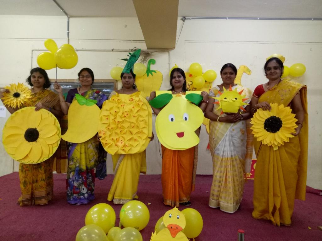 Yellow Colour Day Celebrated On 3 02 2018 Hindu Techno School