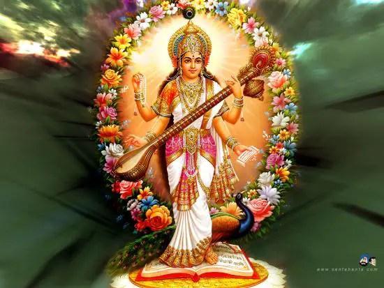 Maa Saraswati Wallpaper