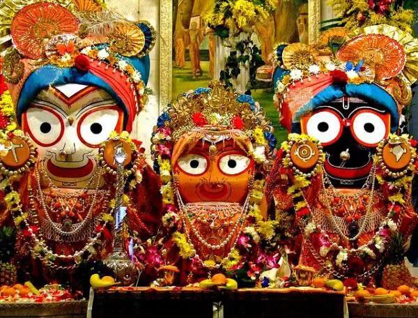 Lord Krishna, Balaram, and Subhadra