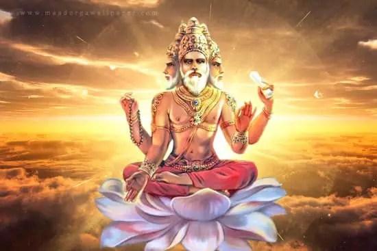 Lord Brahma Image