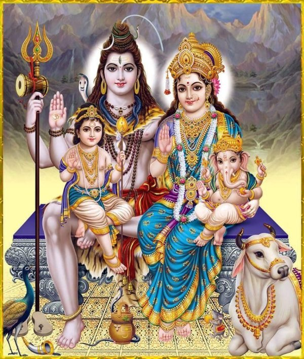 Goddess Parvati Family