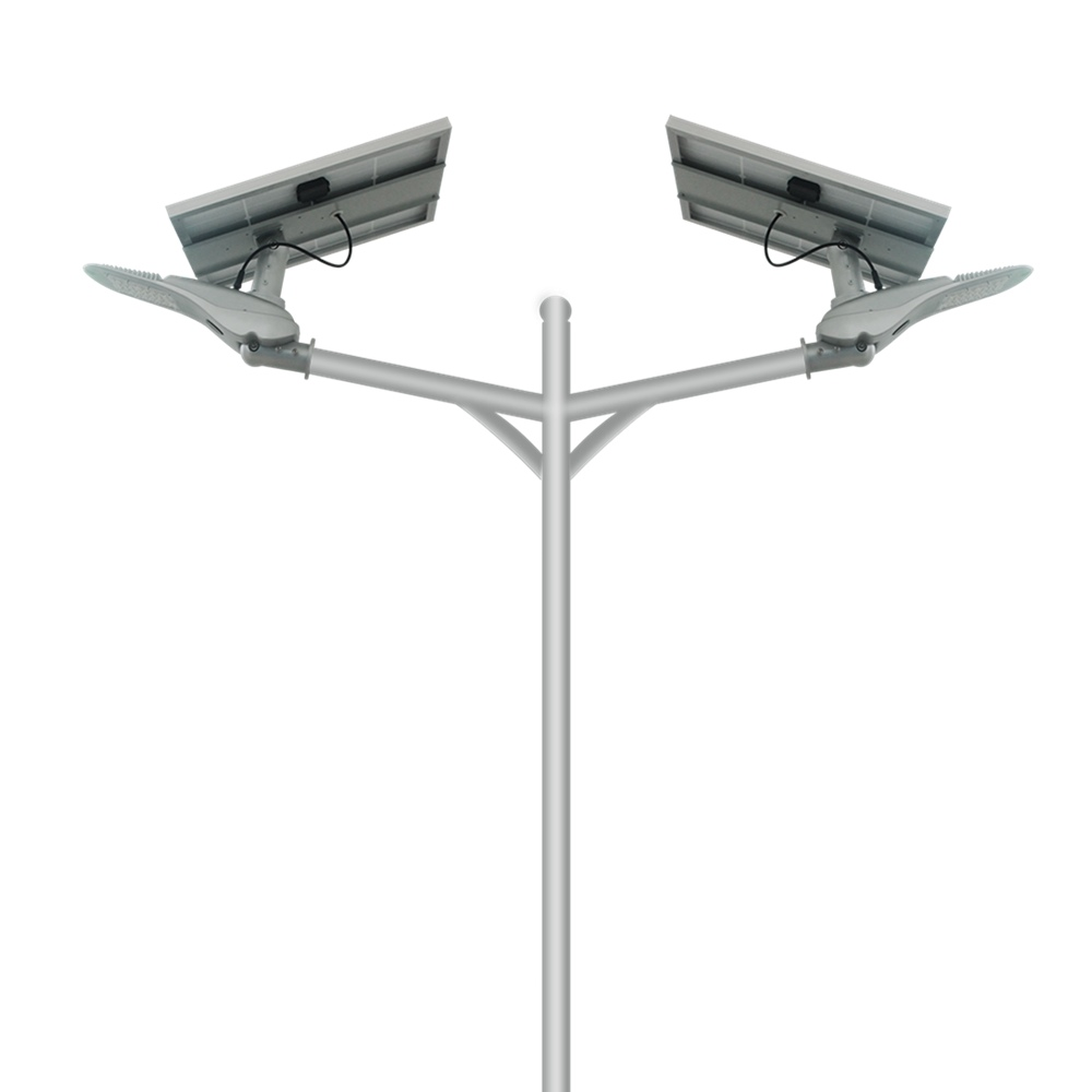 Double Arm Solar LED Street Light for Outdoor Lighting∣Hinergy