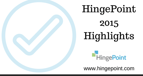 2015 Highlights – HingePoint AEC Systems Consulting