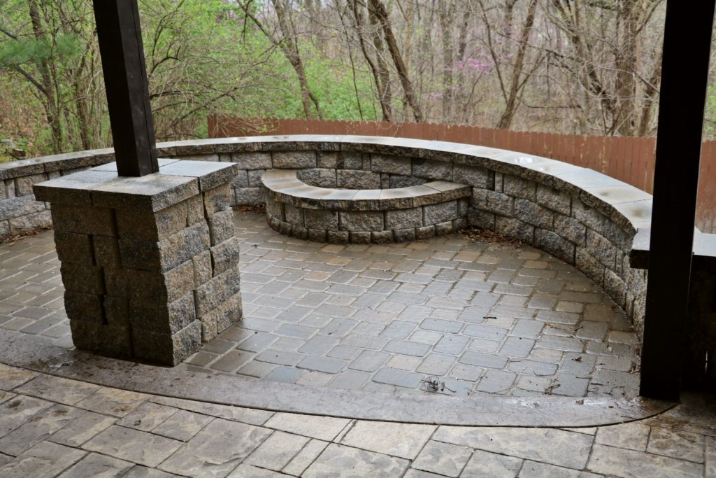 stamped concrete or pavers why not both