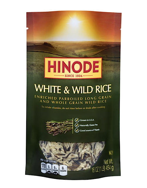 Hinode Rice: white and wild rice parboiled