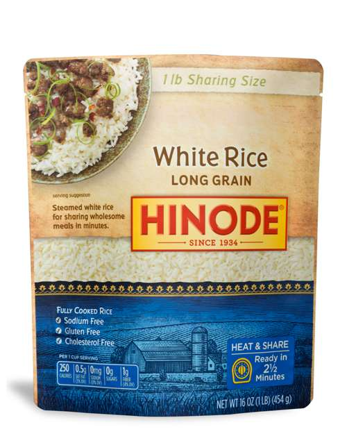 2 1/2 Minute Sharing Size Rice Pouches - Microwavable White Rice
