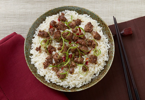 image of korean beef and rice