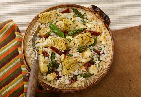 image of mediterranean rice bake