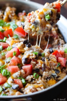 Gluten-free rice recipe made in one pot with spicy taco ingredients.