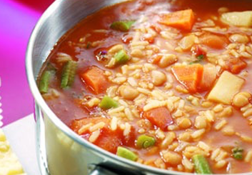 Hinode rice: minestrone rice soup