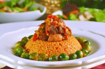 a nigerian jollof recipe shared as christmas rice with turkey - Christmas Rice