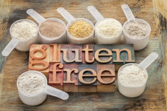 the words gluten free with cup of rice