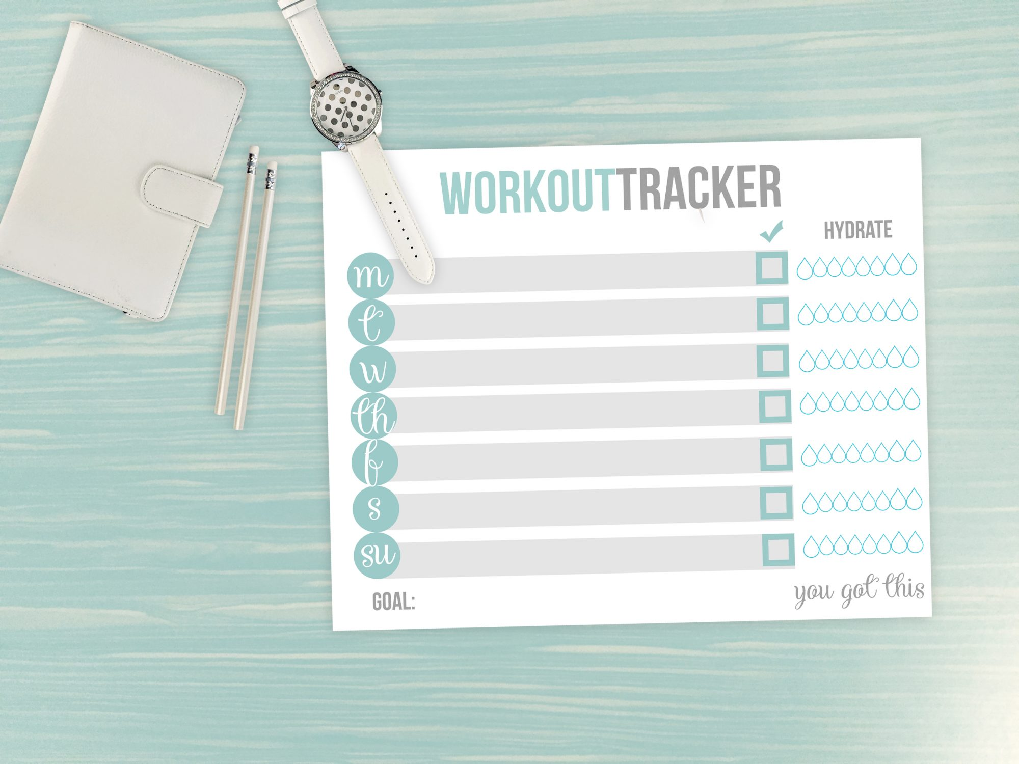 graphic relating to Fitness Tracker Printable called No cost printable health and fitness tracker Daytona Beach front Photographer
