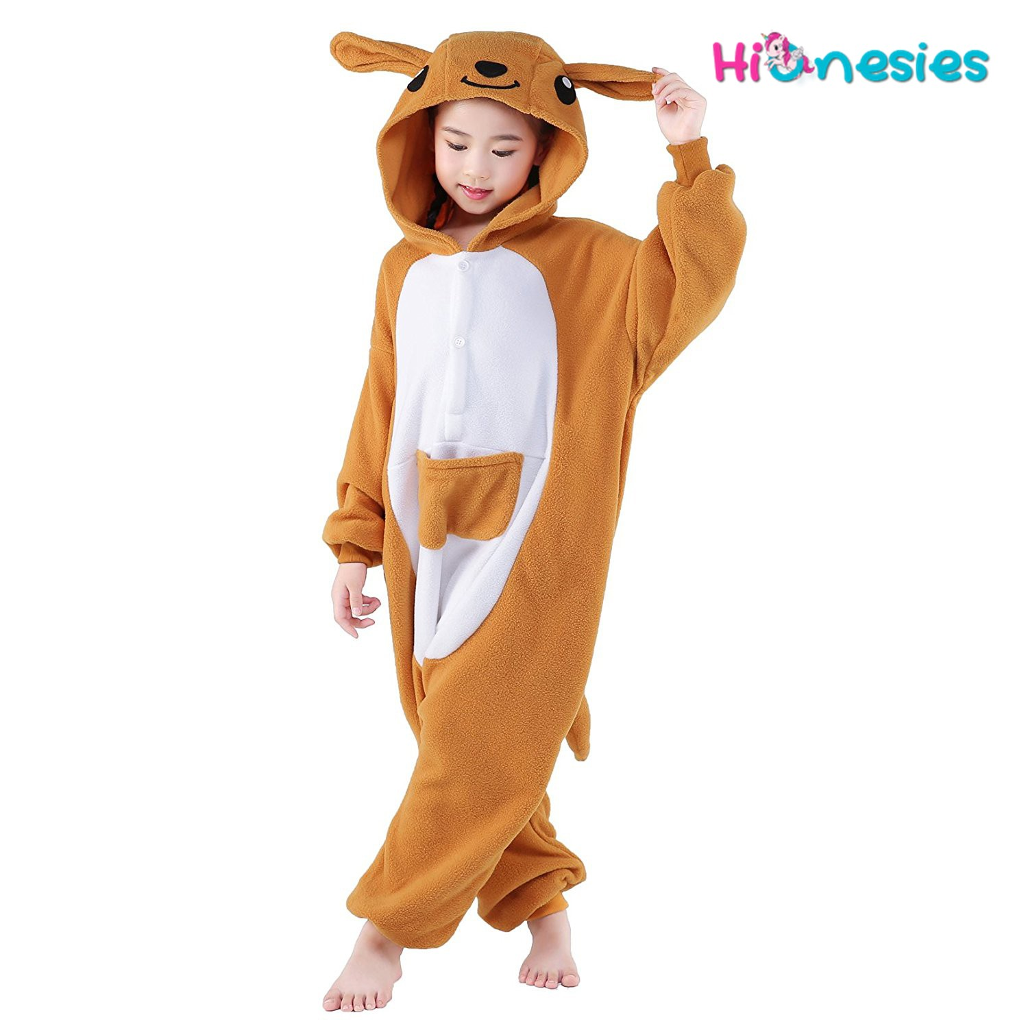 Kangaroo Onesie For Kid Animal Kigurumi Pajama Halloween