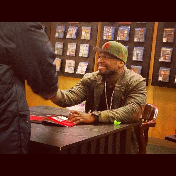 50 Cent at book signing