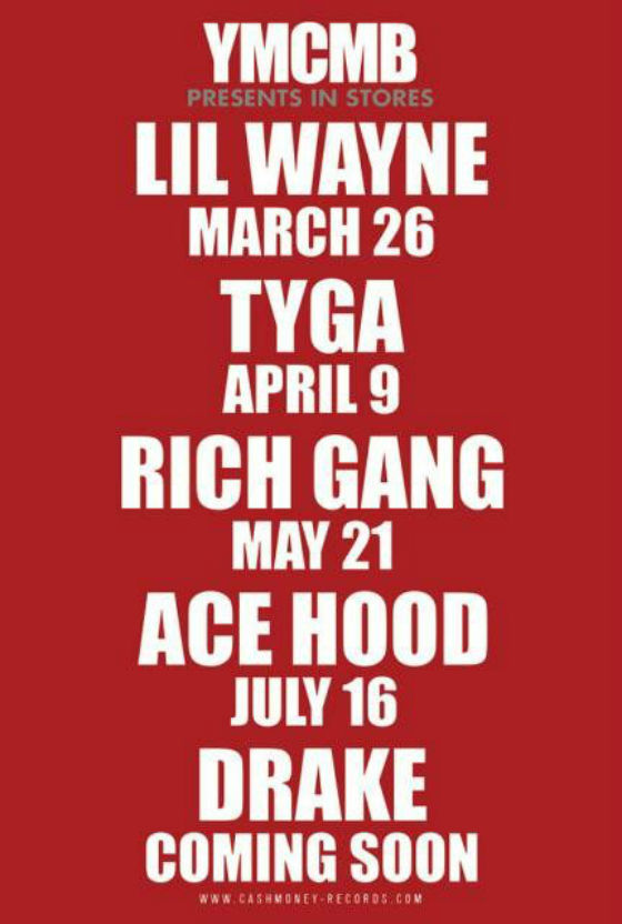 YMCMB release dates