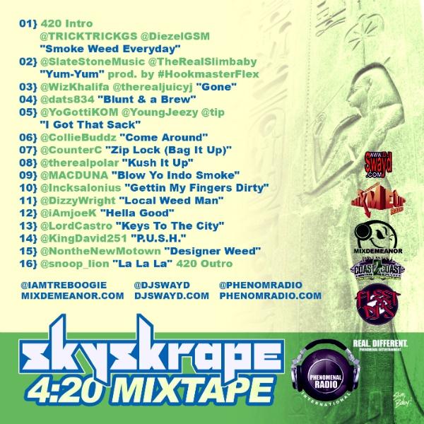 420 Mixtape back