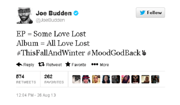 Joe Budden album tweet