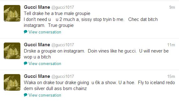 Gucci Mane continues Twitter rant, disses Drake and Waka ...