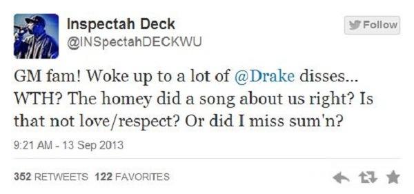 Inspectah Deck tweet 1