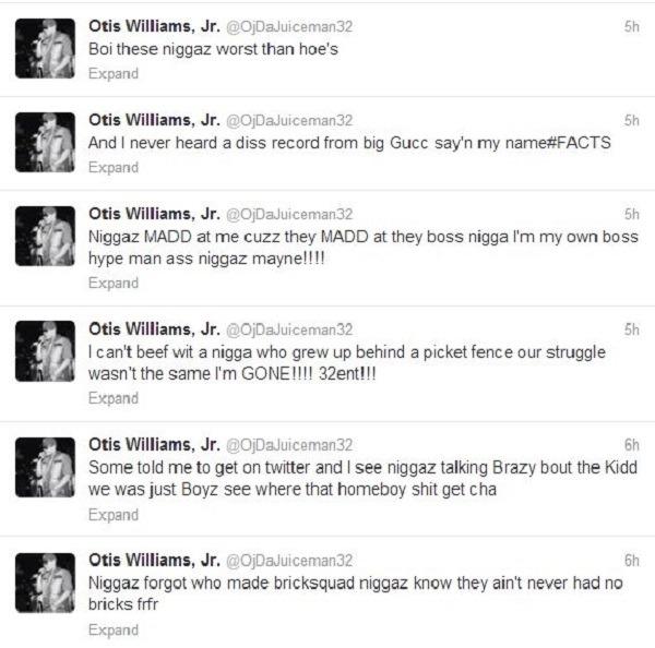 OJ Da Juiceman tweets