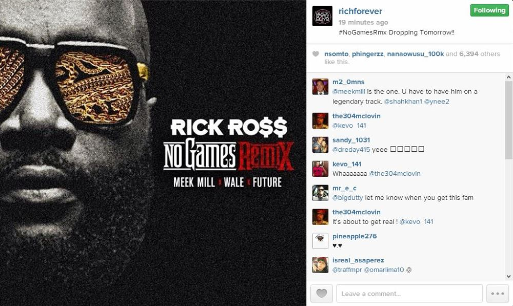 Rick Ross No Games IG