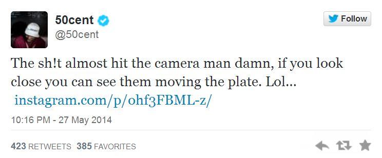 50 Cent baseball tweet 2