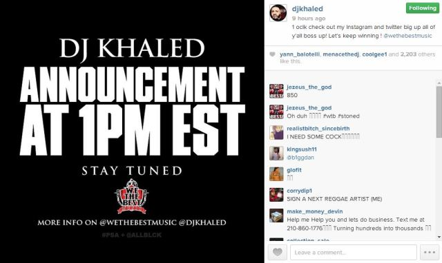 Khaled announcement