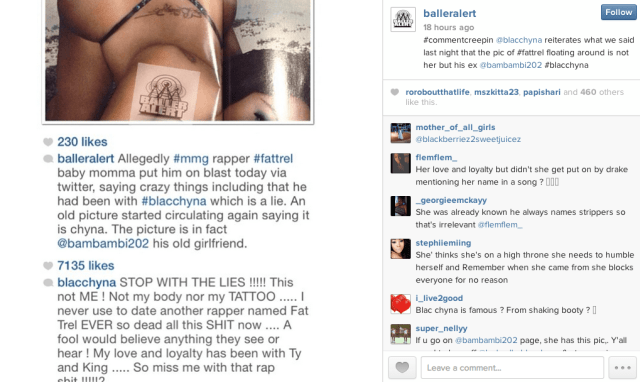 Blac Chyna goes off on Instagram, denies having sex with ...