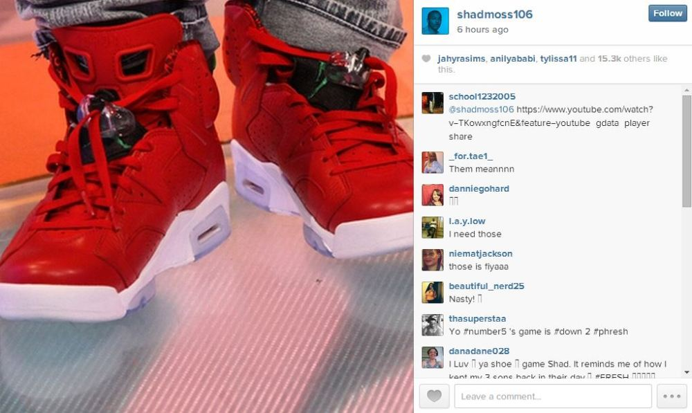 Shad Moss sneaker game