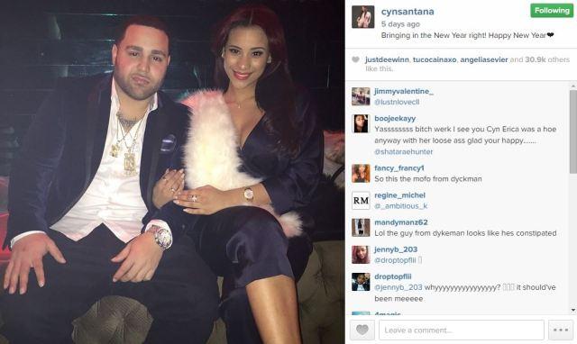 #LHHNY's Cyn Santana rang in 2015 with new boyfriend [PHOTO]