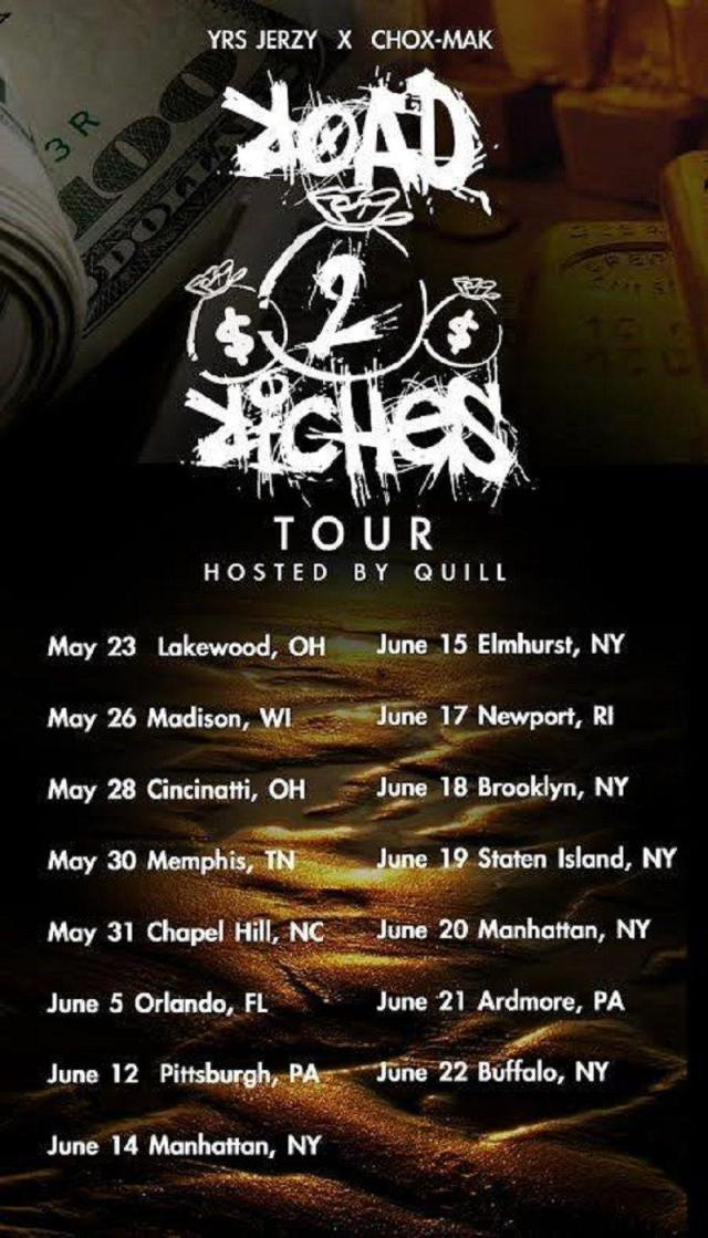 Road To Riches Tour dates
