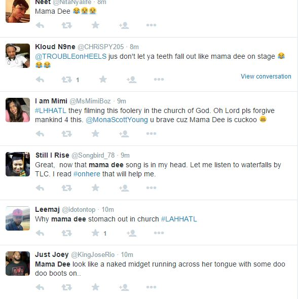 Twitter Reacts To Momma Dee Singing I Deserve In Church Lhhatl