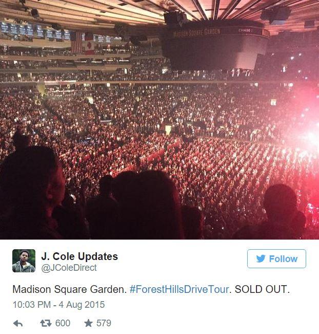 Lovely ... Madison Square Garden Last Night Below: Jcolemadisonsquaretwitpic