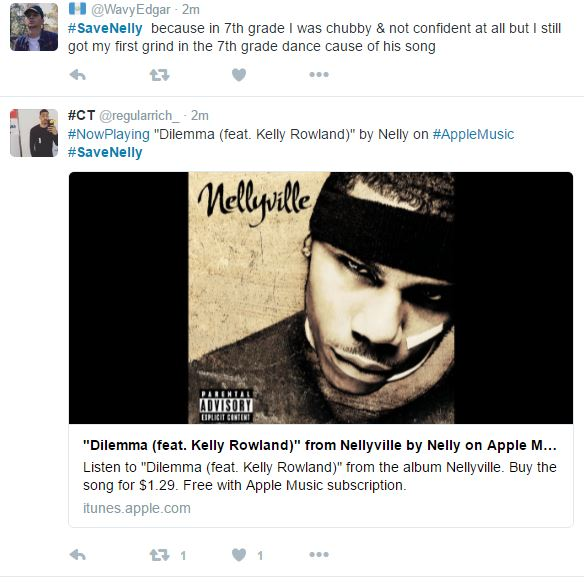 savenelly campaign begins on twitter after news breaks of nelly s