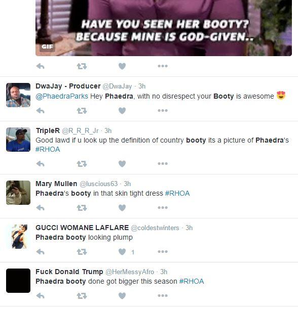 Has Phaedra's Booty Gotten Even Bigger? #RHOA Fans Are