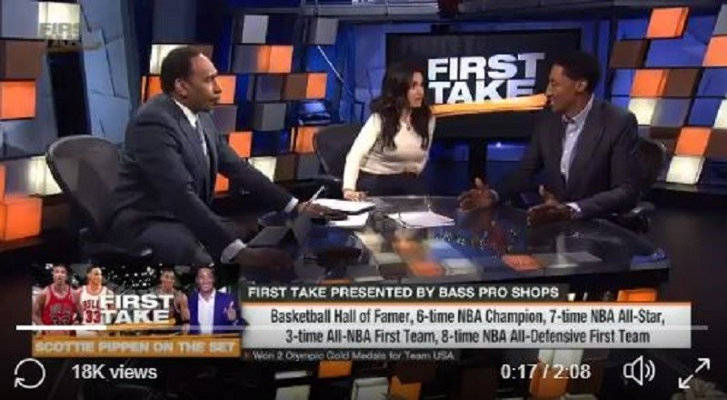 "ae644331b91 Scottie Pippen says LeBron James has ""probably"" passed Michael Jordan as  the best all-time player in NBA history + Stephen A. Smith FLIPS OUT   FIRSTTAKE ..."