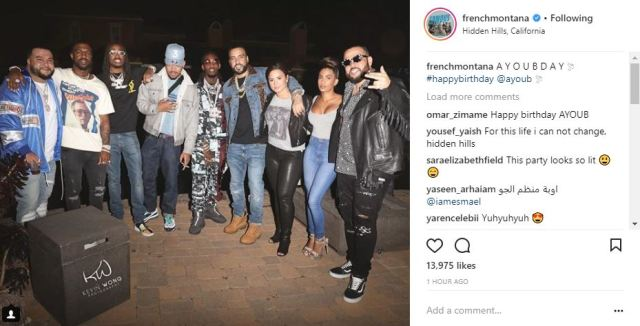 french montana hangs out with demi lovato at birthday party for his friend   ayoub  photos