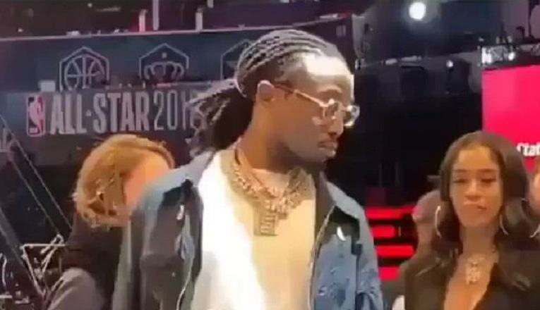 3bad22abd97 Quavo and Saweetie were spotted at the  NBAAllStar Game and Twitter shows  them mad support