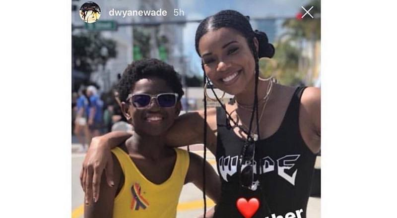 Dwyane Wade shares photo of his son, Zion Wade, at Miami