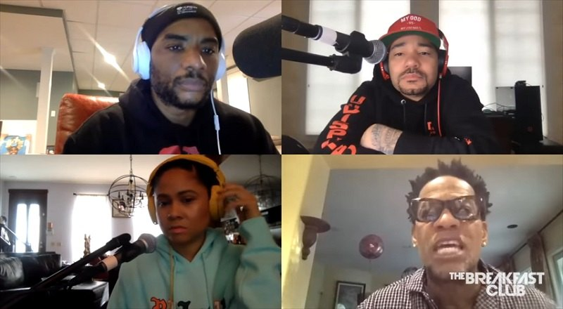 "D.L. Hughley talks to ""The Breakfast Club,"" consisting of DJ Envy, Angela Yee, and Charlamagne Tha God. The discussion was about voting in election 2020, Coronavirus COVID-19, Tiger King, and much more."