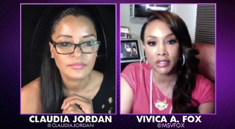 "Vivica A. Fox said, without saying, to Claudia Jordan, on her Fox Soul show, ""One on One with Claudia Jordan,"" that she thinks NeNe Leakes is abusing drugs. Fox never actually said the words, but she did touch her nose, and Claudia Jordan added ""the sweating."" Then, when asking about the rehab, Fox questioned if NeNe was going for mental rehab, or something else."