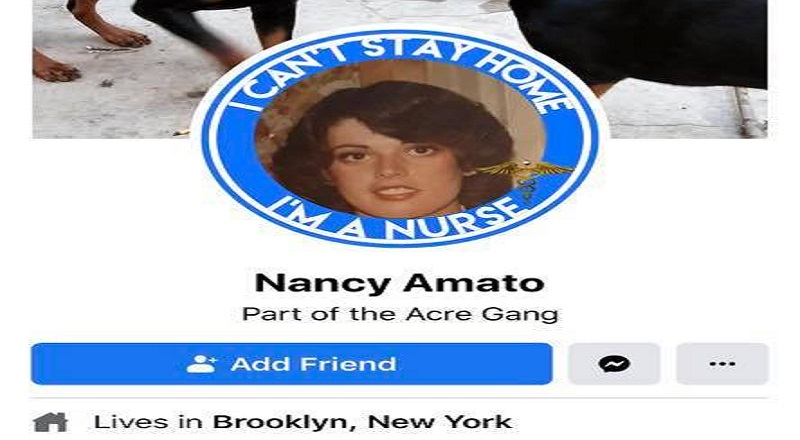"Nancy Amato is an ICU nurse, who lives in Brooklyn, New York. The exact hospital she works for is unknown, but she has been outspoken about the removal of Confederate monuments. On Facebook, she commented ""blacks want no history,"" and on Twitter, she replied to a black person who wanted more Confederate removals, telling them that"