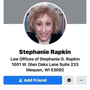 Stephanie Rapkin, attorney at law for Law Offices of Stephanie G. Rapkin, is the woman who spit in the face of the young, black, peaceful protester.