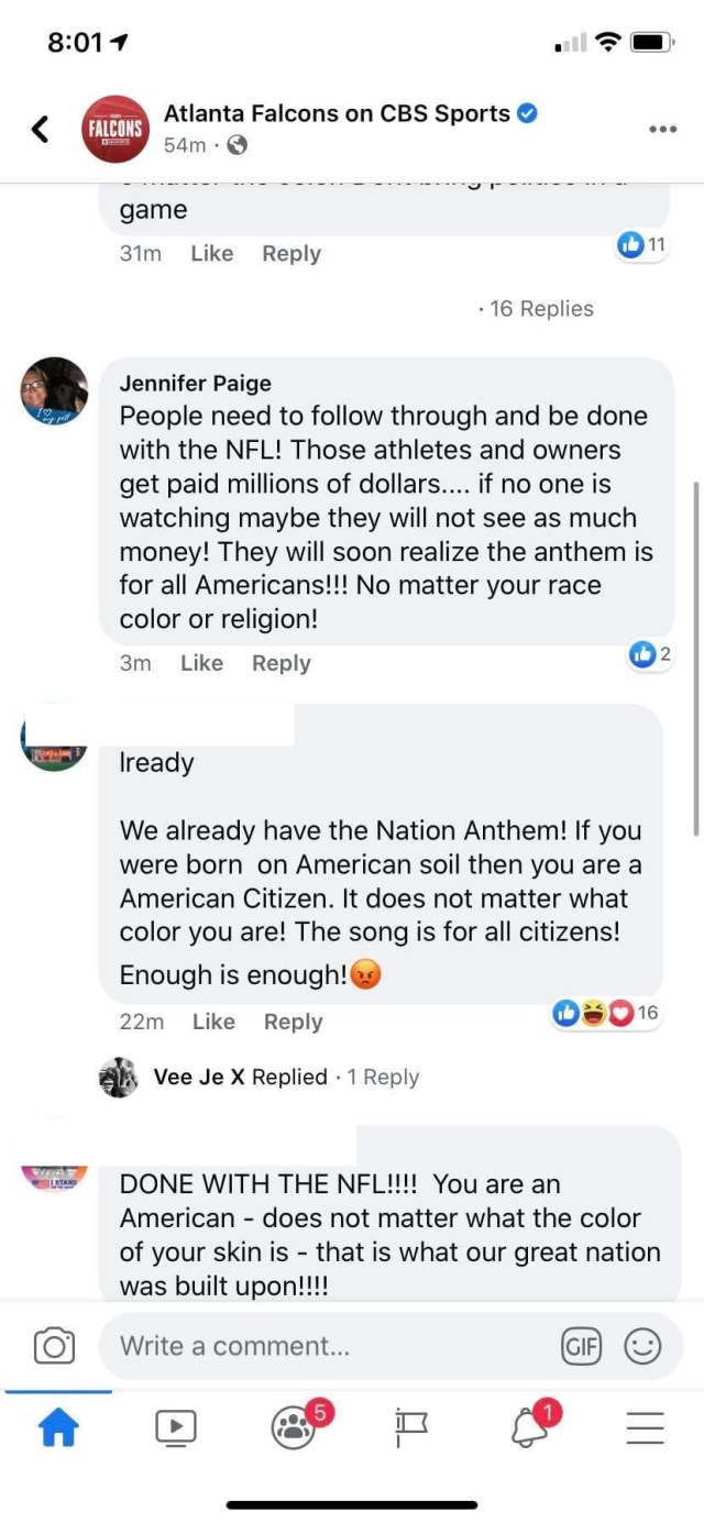Jennifer Paige, a teacher at Cobb County Schools, in Georgia, is not a fan of the NFL's plans. Yesterday, the NFL announced plans to play the Black National Anthem before the Star Spangled Banner, the official US National Anthem, which takes place before every game. Because of this, Paige angrily says that people need to follow through and not watch the NFL games, to cut into their earnings.