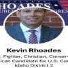 "Kevin Rhoades is running for US Congress, for Idaho's Second District. A conservative Republican, Rhoades is definitely running against the establishment, and what the media is pushing. He is unconvinced about the race war, sharing memes of a dog pooping on an ANTIFA flag, saying whites have endured more racial adversity than black men in the past thirty days, alone, and also shared a meme of Jussie Smollett and Bubba Wallace, calling them ""Hoax Brothers."""