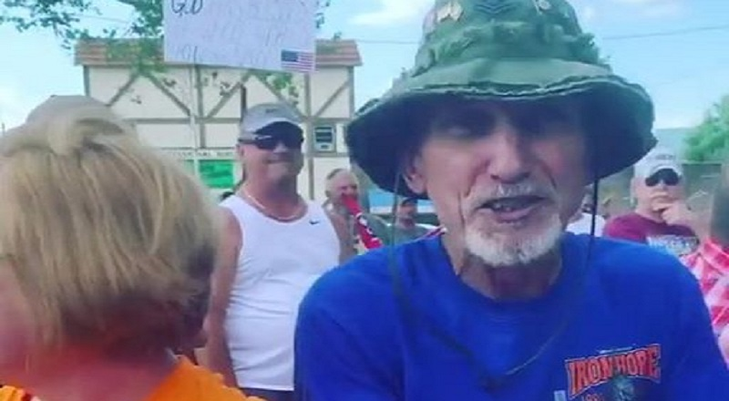 """Jay Fudge shares, on Facebook, some young black people, presumably himself and some friends, being harassed by a white couple. Apparently, they were wearing Black Lives Matter attire, as the woman in the orange shirt repeatedly screamed """"White Lives Matter."""" The woman leveled threats, asking the young black woman what she was going to do about her comments, as she calls the young woman a """"crazy, twisted, stupid person,"""" along with calling her a """"poor little black girl."""" The husband, meanwhile, also made threats, but went onto say that he loves all people, but """"hates you motherf*ckers."""""""