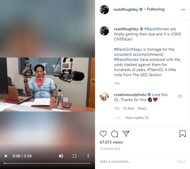 DL Hughley has a special message of congratulations to black women, after Kamala Harris was announced as Joe Biden's VP pick. He said black women asked for a seat at the table, and they took it. Hughley also added that black men can learn a thing or two from their female counterparts.